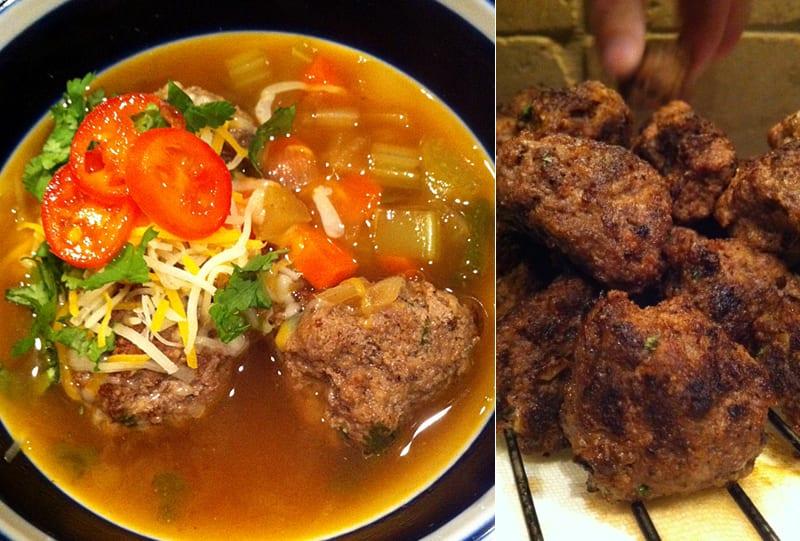 Albondigas Soup with Elk Burger Meatballs