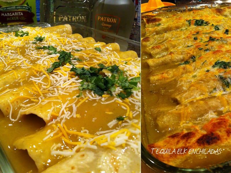 Tequila Elk Enchiladas
