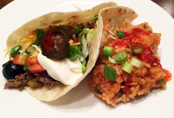 Elk TAcos with Picante Mexican Rice