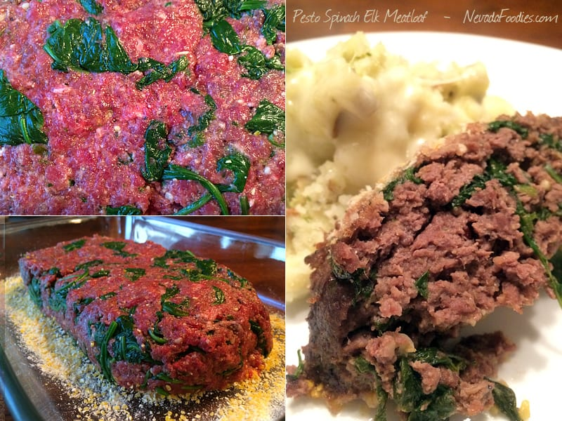 Spinach Pesto Elk Meatloaf