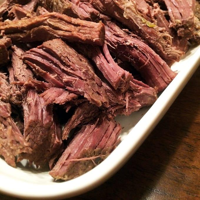 Slow Cooked Elk Roast with Leeks and Beer