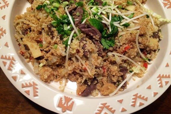Duck Stir-fry with Quinoa