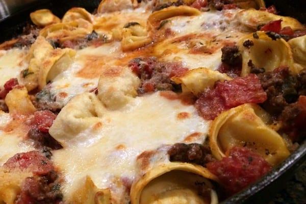 Venison Tortellini Skillet Bake