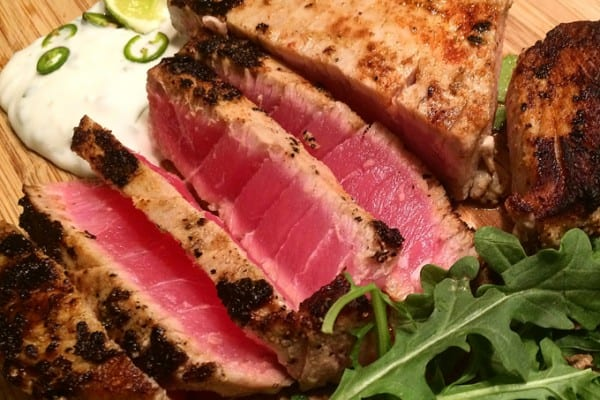 Cilantro Lime Seared Ahi Ahi