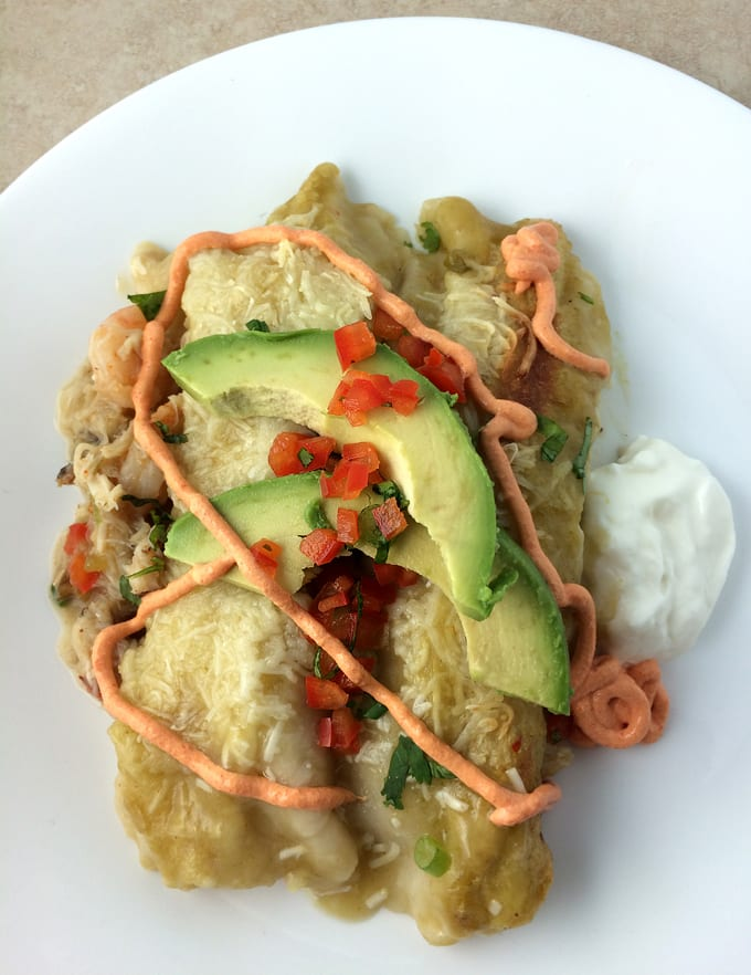 Crab and Shrimp Enchiladas