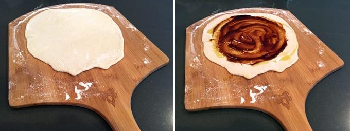 pizza crust 2 Mallard duck breasts ( per individual pizza ) Hoisin ...