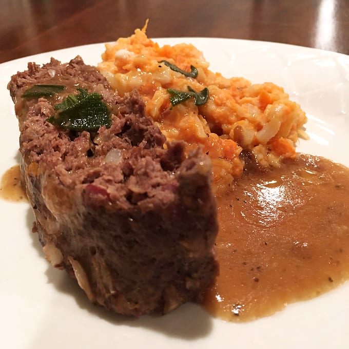 Antelope Meatloaf with Sage Gravy