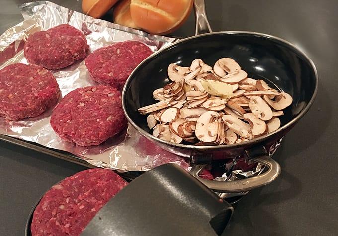 Bison Mushroom Swiss Burgers
