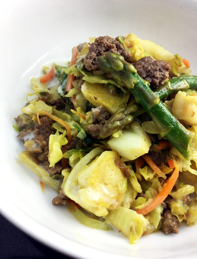 Curry Bison and Vegetables