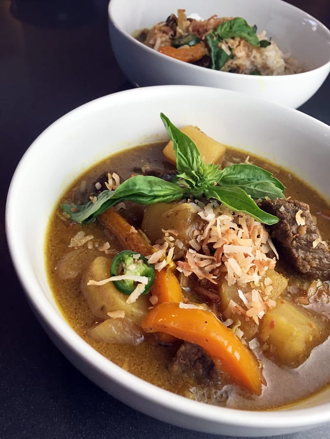 Elk Curry with Toasted Coconut