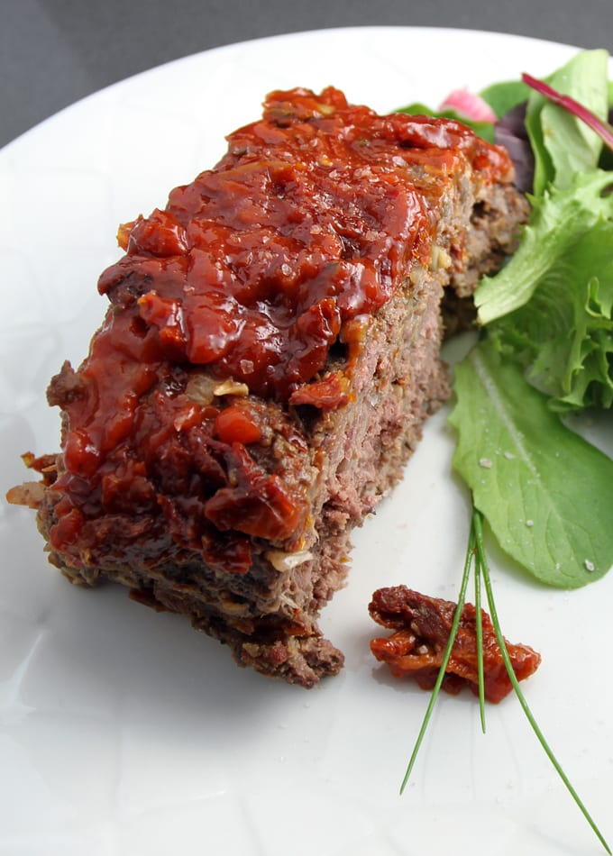 Elk Meatloaf with Sun-Dried Tomatoes