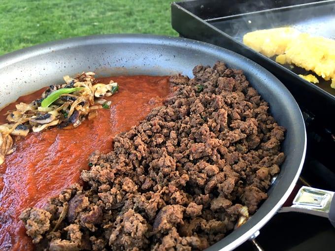 Elk Meat Sauce and Polenta