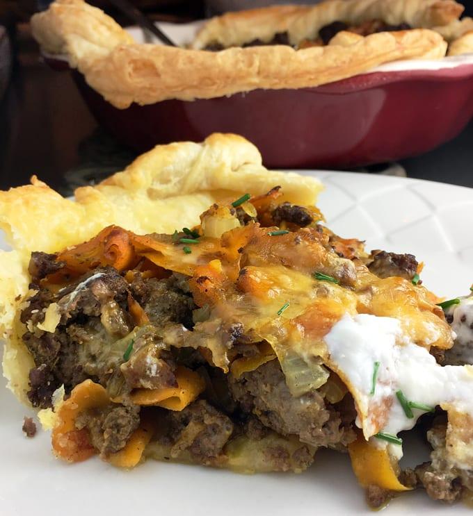 Curried Antelope Meat Pie