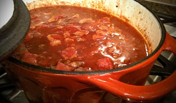 Red Wine Carnivore Elk Chili