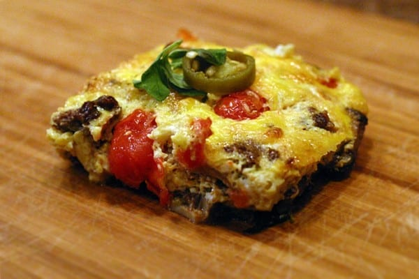 Crustless elk burger quiche
