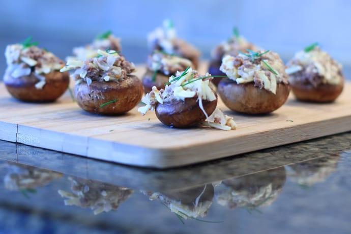 Elk Burger Stuffed Murshrooms