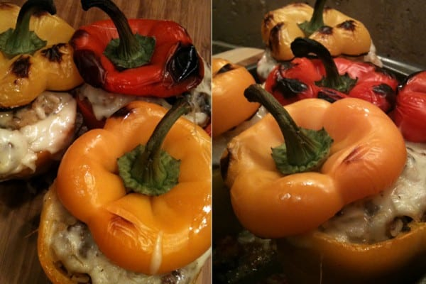Stuffed Bell Peppers with Ground Elk