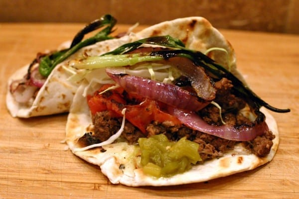 Ground elk tacos