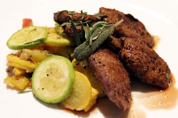 Antelope backstrap in sage butter