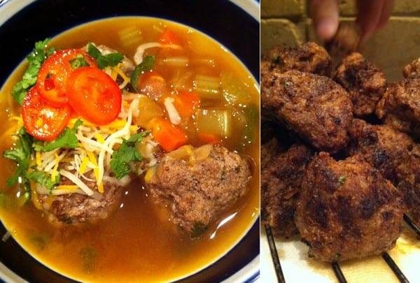Albondigas Soup with Elk Burger Meatballs