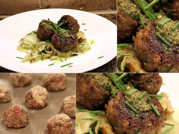 Pesto Elk Meatballs