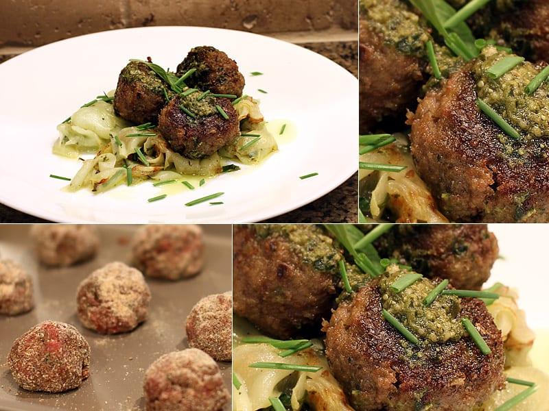 Pesto Elk Meatballs