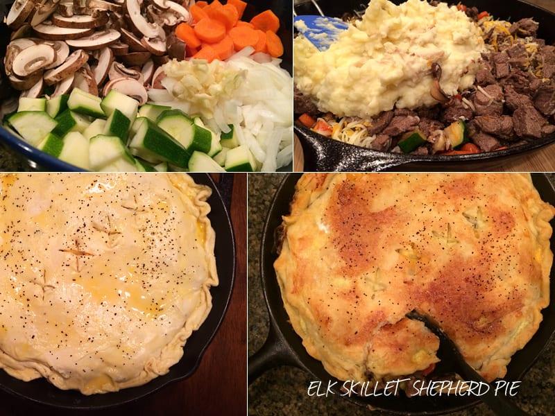 Elk Skillet Pie Ingredients