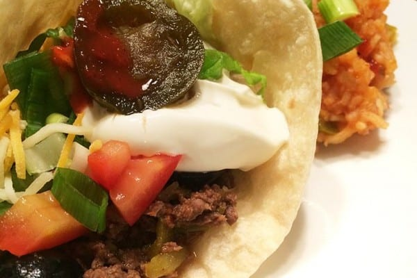 Elk Tacos with Mexican Rice