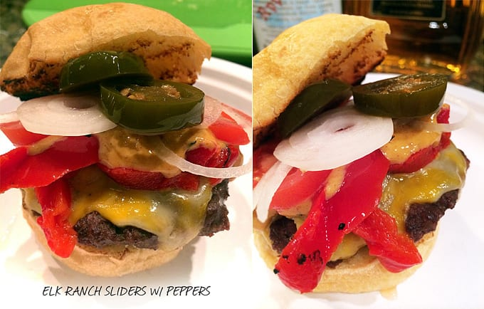 Elk Ranch Sliders with Peppers