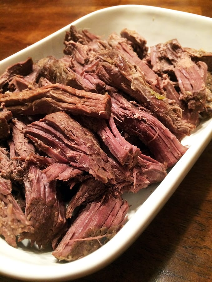 Crockpot Elk Roast with Leeks and Beer
