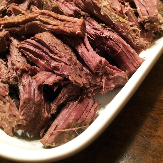 Slow Cooked Elk Roast with Leeks and Beer