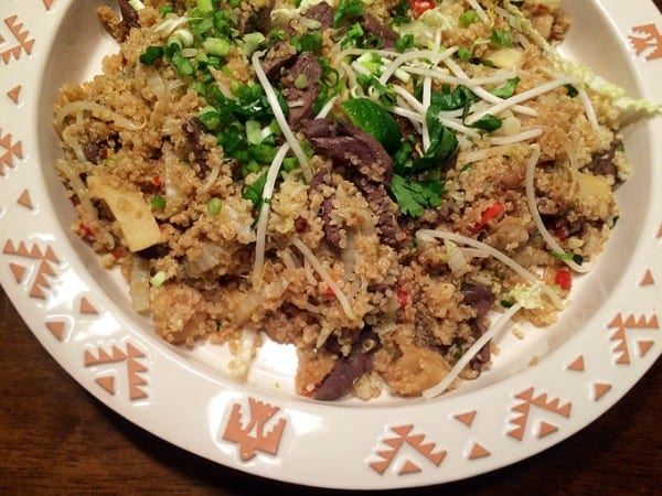 Duck Stir-fry with Quinoa