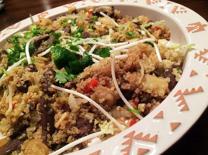 Duck Vegetable and Quinoa Stir-fry