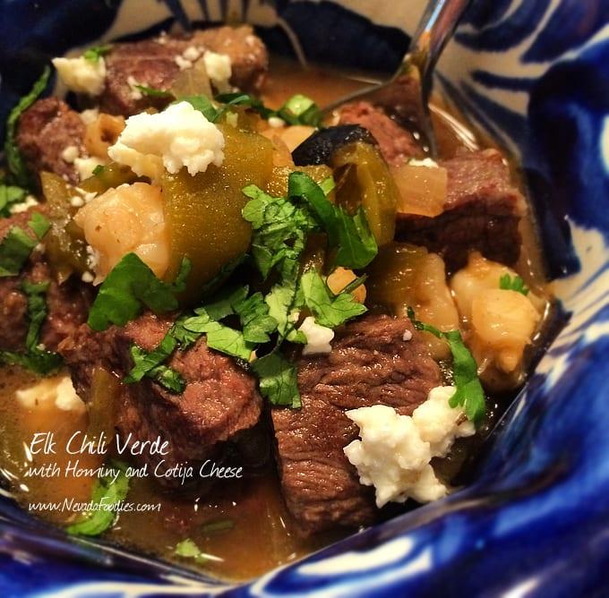 Slow Cooked Elk Chili Verde