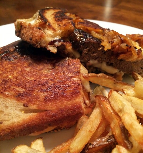 Elk Burger Patty Melt