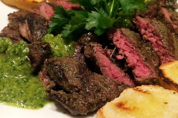 Chimichurri Grilled Elk Steak