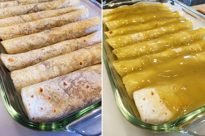 Elk Beans and Rice Enchiladas
