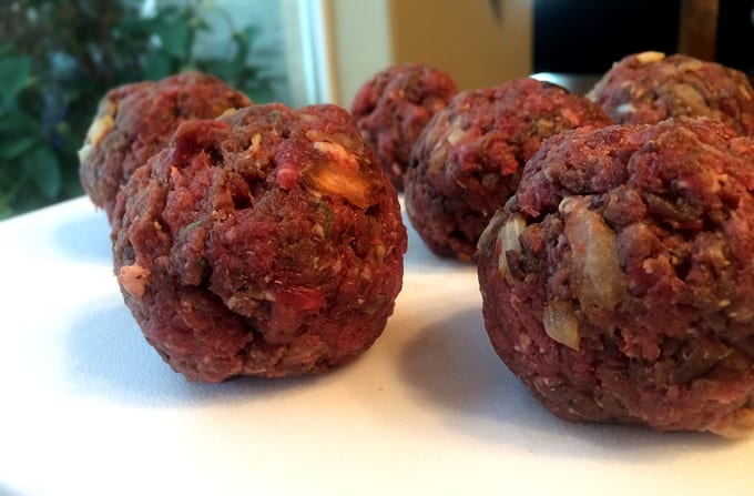 Mozzarella Stuffed Italian Elk Meatballs