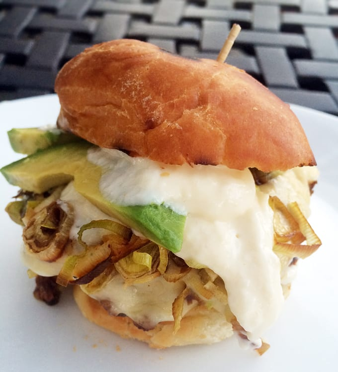 Antelope Burger with Fried Leeks
