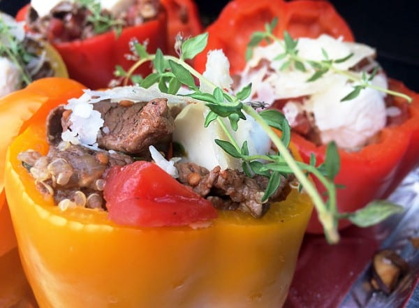 Elk and Quinoa Stuffed Bell Peppers