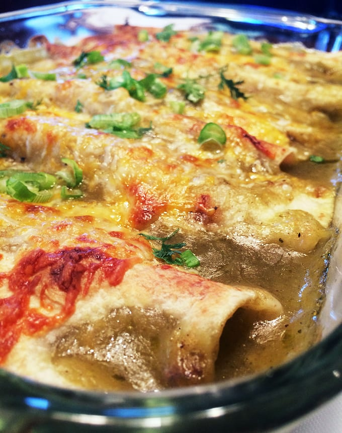 Venison Salsa Verde Enchiladas