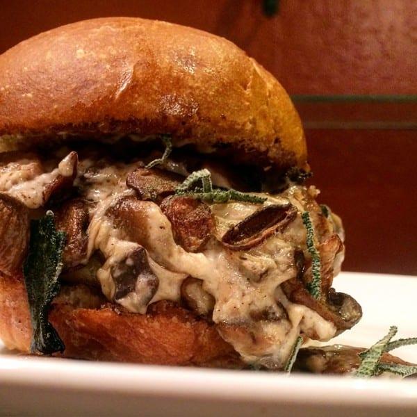 Antelope Mushroom Smoked Gouda Burger