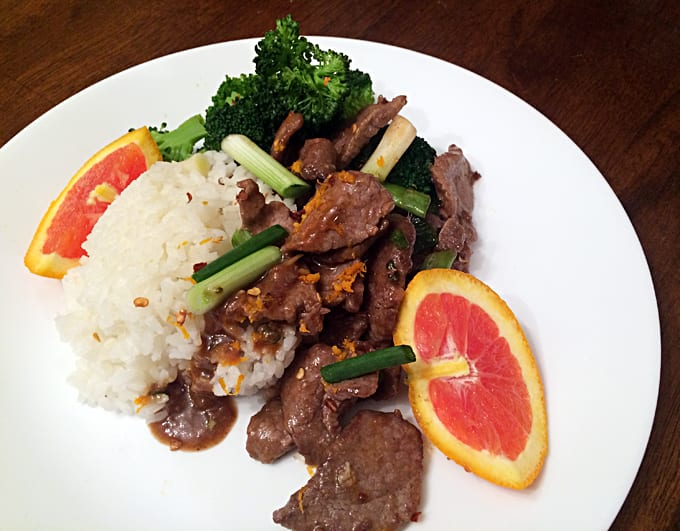 Orange Elk and Steamed Broccoli