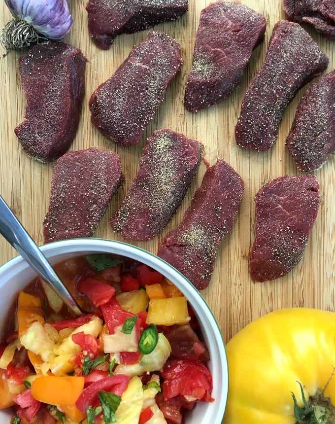 Seared Antelope with Salsa Relish