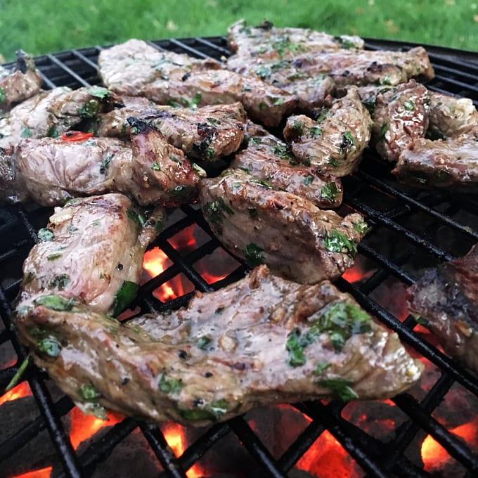 Chimichurri Elk Steaks