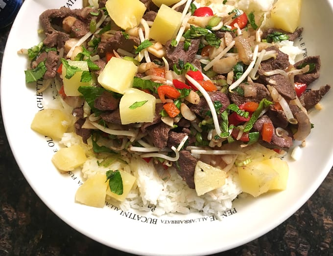 Goose Pineapple Stir-Fry