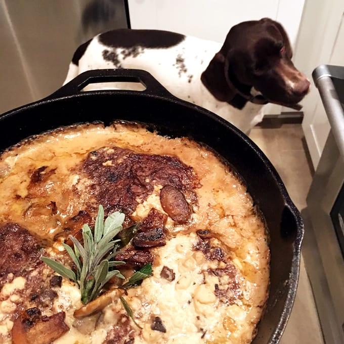 Bison Tenderloin Steaks with Mushroom Gravy