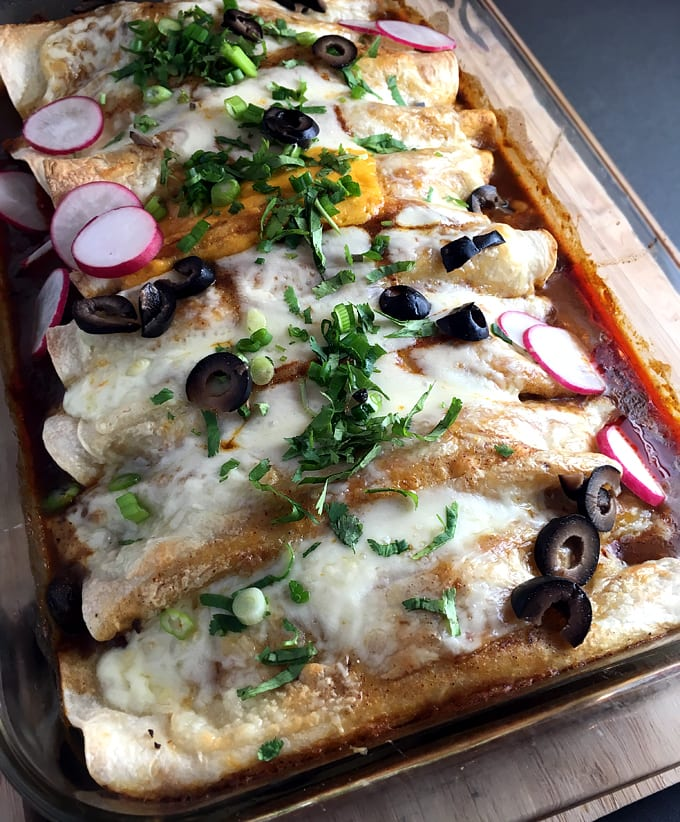Wild Game Enchiladas with Red Sauce