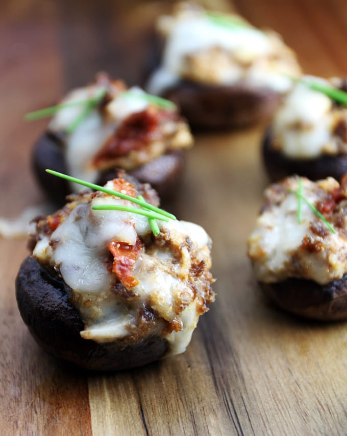 Stuffed Mushrooms with Elk