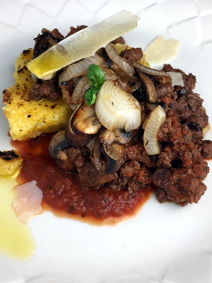 Elk Meat Sauce and Polenta